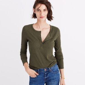 Madewell Cropped Fitted Henley